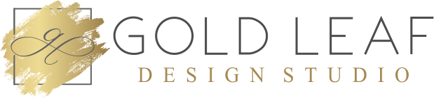 gold leaf design studio company logo