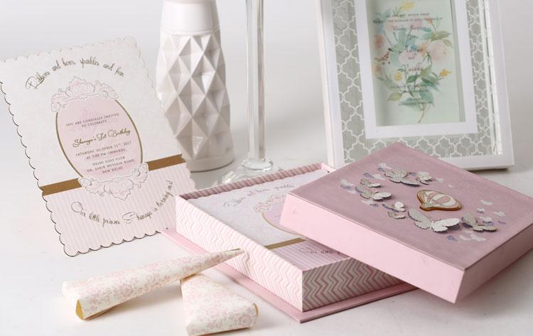 designer luxury invitation cards boxes gold leaf design studio